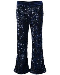 Alexis - Pace Sequin Flare Cropped Pants - Lyst
