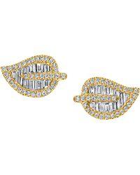 Anita Ko - Diamond Leaf Stud Earrings - Lyst