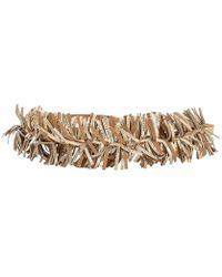Brunello Cucinelli - Leather Fringe Tie Belt - Lyst