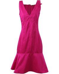 Nina Ricci - Rose Shoulder Flared Dress - Lyst