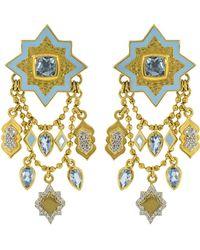 Buddha Mama - Blue Topaz Lantern Chain Earrings - Lyst