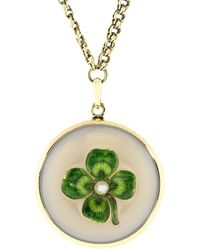 Fred Leighton - Horseshoe And Clover Pendant Necklace - Lyst