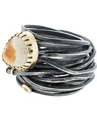 Boaz Kashi - Opal Wire Wrap Ring - Lyst