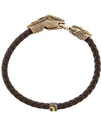 Sevan Biçakci - Black Diamond Snake Leather Bracelet - Lyst