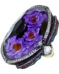 Sevan Biçakci - Waterlily Amethyst Ring - Lyst