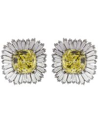 Fantasia Jewelry - Canary And Cubic Zirconia Firework Earrings - Lyst