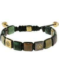 Shamballa Jewels - Emerald And Yellow Sapphire Lock Bracelet - Lyst