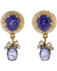 Federica Rettore - Tanzanite Earrings - Lyst