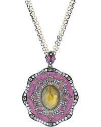 Sevan Biçakci - Pink Mosaic Bird In Flight Necklace - Lyst