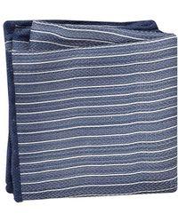Brunello Cucinelli - Striped Silk Pocket Square - Lyst