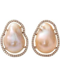 Jordan Alexander - Fresh Water Pearl Slice Earrings - Lyst