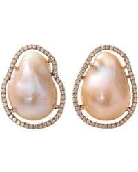 Jordan Alexander - Fresh Water Pearl Slice Earrings - Lyst