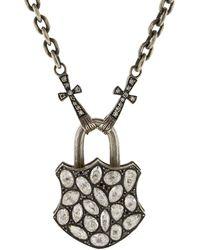 Sevan Biçakci - Large Rose Diamond Lock Pendant - Lyst