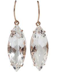 Andrea Fohrman - Rock Crystal Marquis Earrings - Lyst