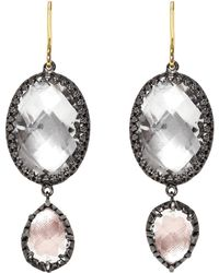 Larkspur & Hawk - Sadie Oval And Pear Drop Earrings - Lyst