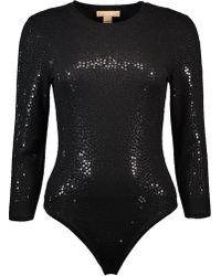 Michael Kors - Paillette Bodysuit - Lyst