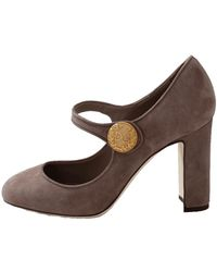 Dolce & Gabbana - Suede Mary Jane Shoe - Lyst