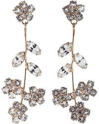 Jennifer Behr - Rose Gold Violet Dangle Earrings - Lyst