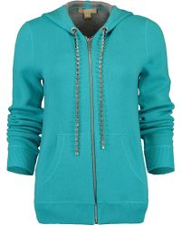 Michael Kors - Cashmere & Crystal Embellished Hoodie - Lyst