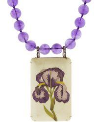 Silvia Furmanovich - Marquestry Purple Bead Flower Necklace - Lyst