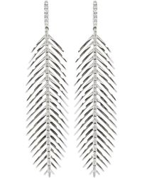 Sidney Garber - Large Feathers That Move Diamond Earrings - Lyst