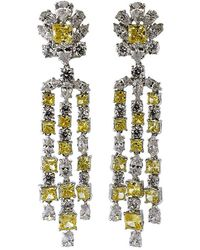Fantasia Jewelry - Top Round Flower Drop Earrings - Lyst