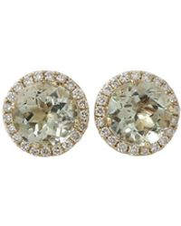 Dana Rebecca - Anna Beth Green Quartz Stud Earrings - Lyst
