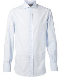 Brunello Cucinelli - Spread Collar Cotton Shirt - Lyst