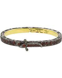 Sevan Biçakci - Hinged Red Sapphire And Diamond Bangle - Lyst