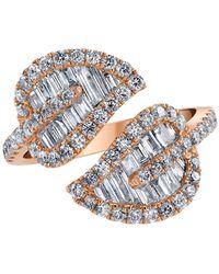 Anita Ko - Diamond Leaf Ring - Lyst