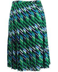 Michael Kors - Pleated Chevron Skirt - Lyst