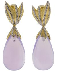 Victor Velyan - Moon Quartz Drop Earrings - Lyst
