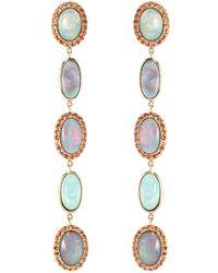 Katherine Jetter - Classic Five Drop Black Opal Earrings - Lyst