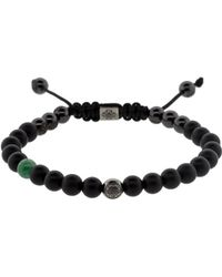 Shamballa Jewels - Emerald And Onyx Bead Bracelet - Lyst