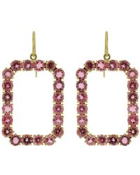 Sylva & Cie - Phantom Pink Tourmaline Earrings - Lyst