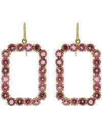 Sylva & Cie - Phantom Pink Tourmaline Earrings - Lyst