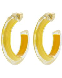 Alison Lou - Small Mustard Loucite Jelly Hoops - Lyst