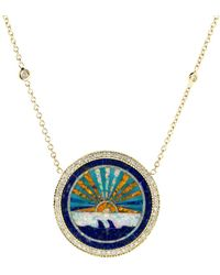 Jacquie Aiche - Sunset Opal Inlay Necklace - Lyst
