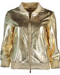 Blugirl Blumarine - Metallic Leather Jacket - Lyst