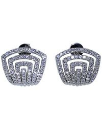 Dana Rebecca | Diamond Pave Huggie Earrings | Lyst