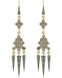 Sylva & Cie - Champagne Diamond Tassel Earrings - Lyst