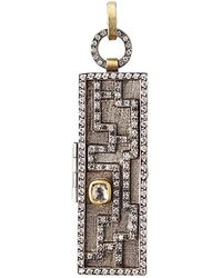 Annie Fensterstock - Mixed-metal And Diamond Maze Locket Pendant - Lyst