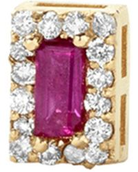 Alison Lou - Ruby Single Stud Earring - Lyst