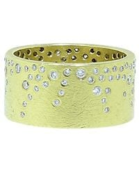 Todd Reed - White Brilliant Diamond Sprinkle Wide Band - Lyst