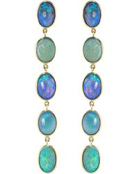 Katherine Jetter - Five Black Opal Drop Earrings - Lyst