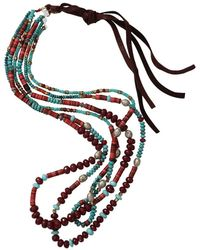 Royal Nomad Jewelry - Three Strand Turquoise And Granite Necklace - Lyst