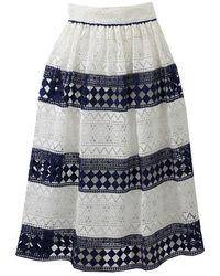 Philosophy - Stripe Lace Skirt - Lyst