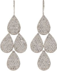 Irene Neuwirth - Pave Four-drop Chandelier Earrings - Lyst