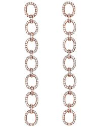 EF Collection - Diamond Xl Chain Link Earrings - Lyst
