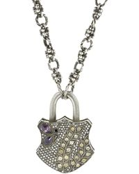 Sevan Biçakci - Purple Sapphire Butterfly Diamond Padlock - Lyst
